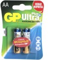 Батарея GP Ultra Plus Alkaline 15AUP LR6 AA 2шт уп