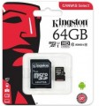 micro SDXC карта памяти Kingston 64GB Class10 UHS-I Canvas Select up to 80MB s с адапт SDCS 64GB