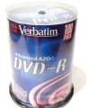 Диски DVD-R 4 7GB 16x Verbatim Cake box 100 шт