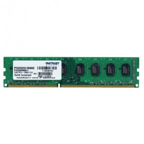 Память DDR3 2Gb Patriot pc-12800 1600MHz pc-12800