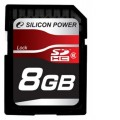 Карта памяти SDHC 8Gb Silicon Power Class6
